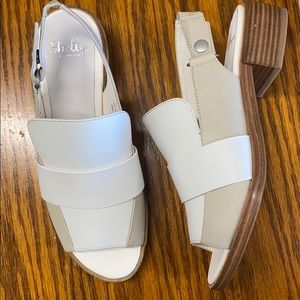 Shellys London white heeled sandals